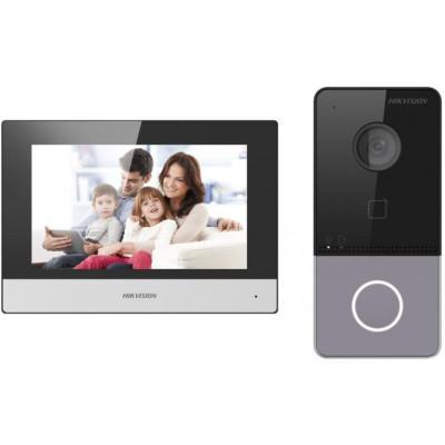 DS-KIS603-P - kit IP videotelefonu, bytový monitor + dveřní stanice + 2x zdroj