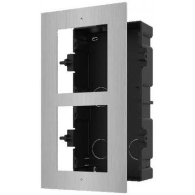 DS-KD-ACF2/S - 2-rámeček  interkomu pro zápustnou montáž, nerez