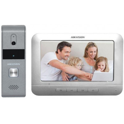 DS-KIS203 - kit videotelefonu, analog. 4-drát, bytový monitor + dveřní stanice