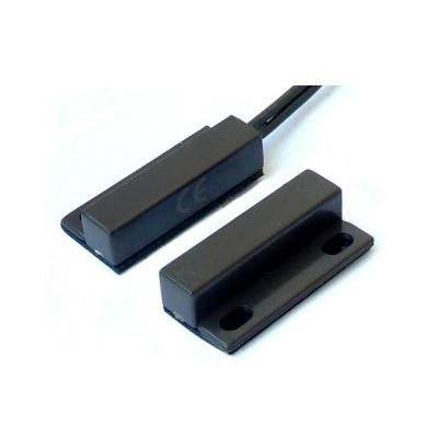BS-2012BR - Samolepící povrchový magnetický kontakt 28x13 mm, kabel, hnědý