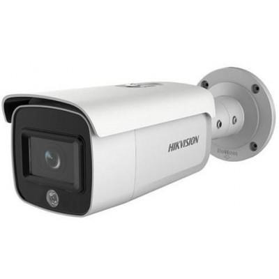 DS-2CD2T46G1-4I/SL(8mm) - 4MPix IP Bullet AcuSense kamera, IR 80m, blikač, zvukový Alarm, reproduktor