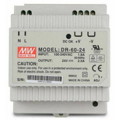 DR-60-24 - použitý - Průmyslový spínaný zdroj 24V 60W na DIN lištu